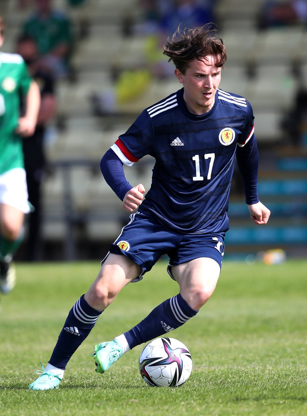 Logan Chalmers in action for Scotland's youth team