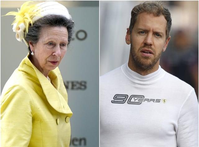 The Princess Royal and Sebastian Vettel