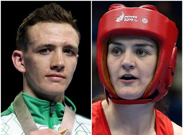 Brendan Irvine and Kellie Harrington