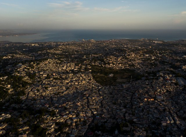 Homes stand densely packed in Port-au-Prince, Haiti, Monday, July 19, 2021 (Matias Delacroix/AP)