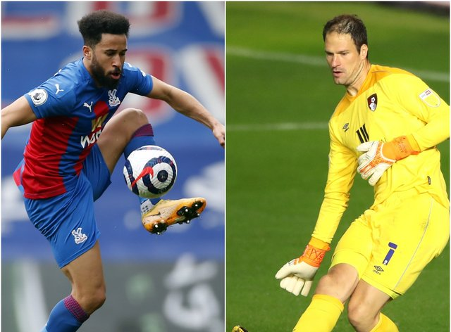 Andros Townsend, left, and Asmir Begovic