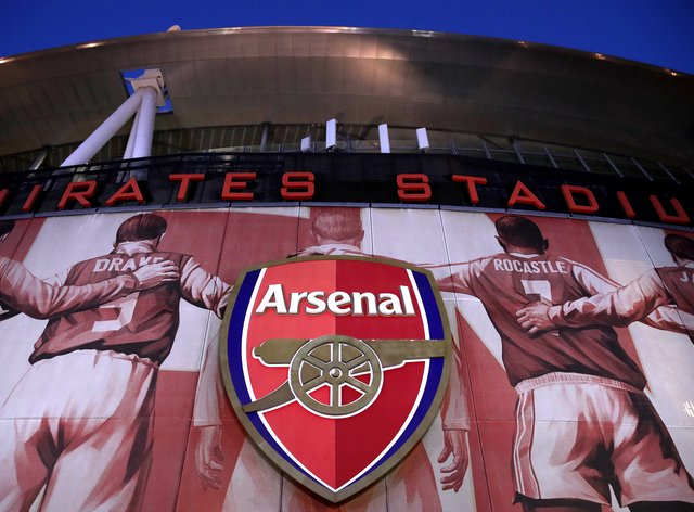 A general view of the outside of Arsenal's Emirates Stadium