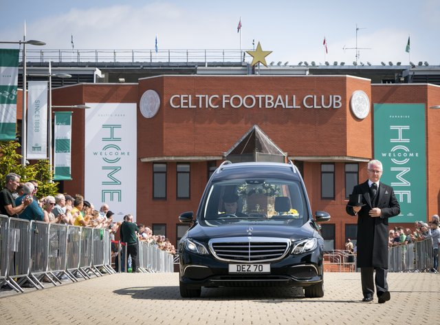 Charlie Gallagher funeral procession