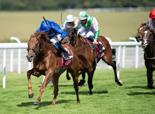 Space Blues has been left in the Qatar Lennox Stakes at Goodwood, which he won last year