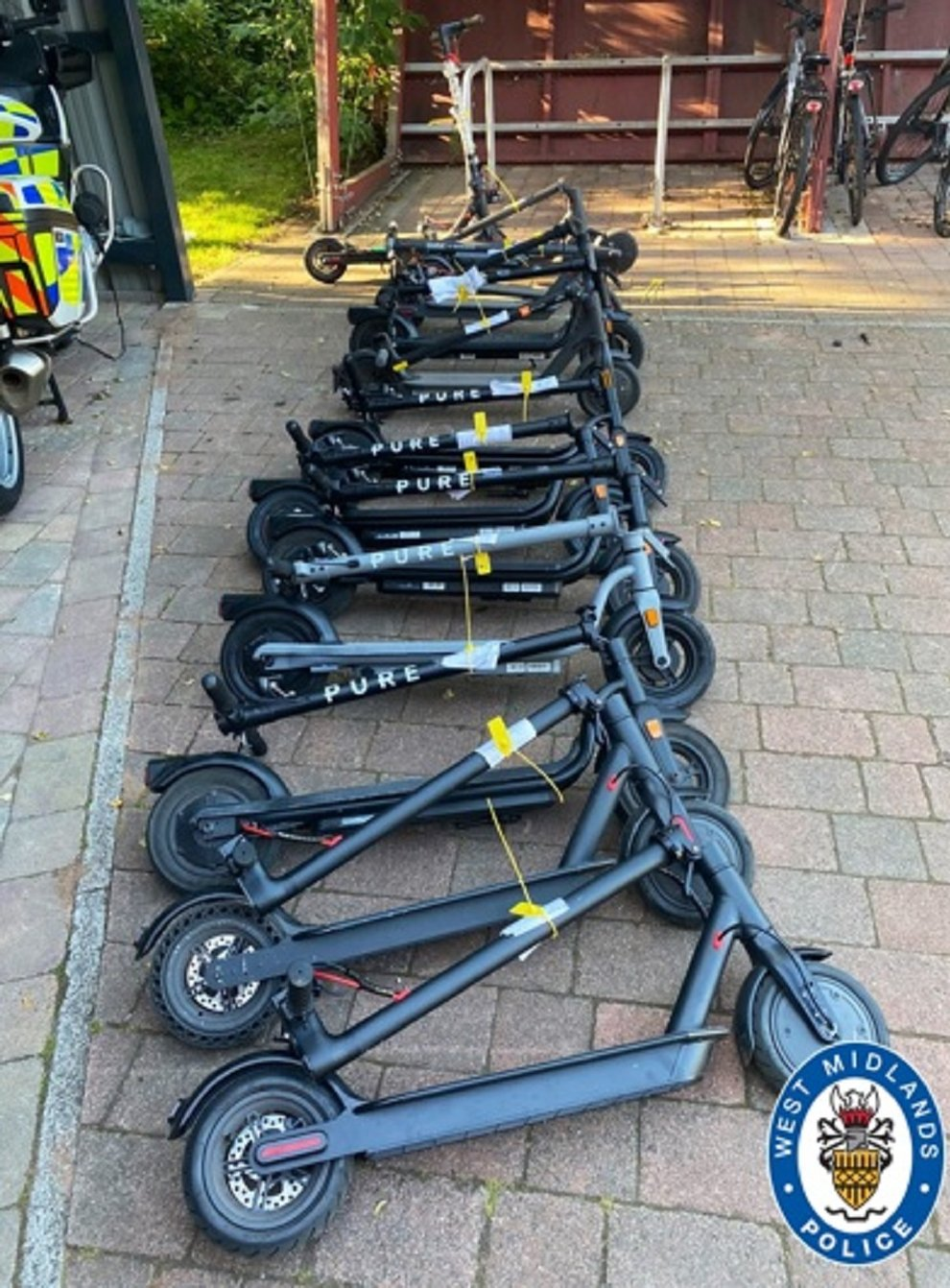 E-scooters seized by West Midlands Police