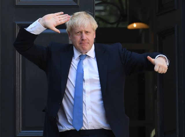 Boris Johnson arrives at Conservative Party HQ after it was announced that he had won the leadership ballot and would become the next Prime Minister (Stefan Rousseau/PA)