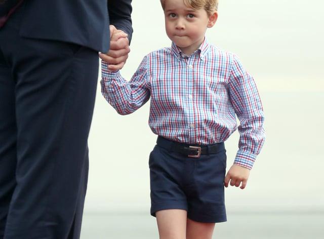 Fashion influencer: Prince George (Jane Barlow/PA)