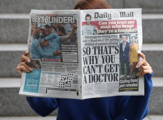 The Daily Mail's owner reported a revenue increase (Jonathan Brady/PA)