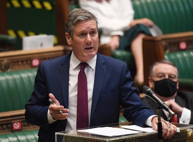 Labour leader Sir Keir Starmer is self-isolating (Jessica Taylor/UK Parliament/PA)