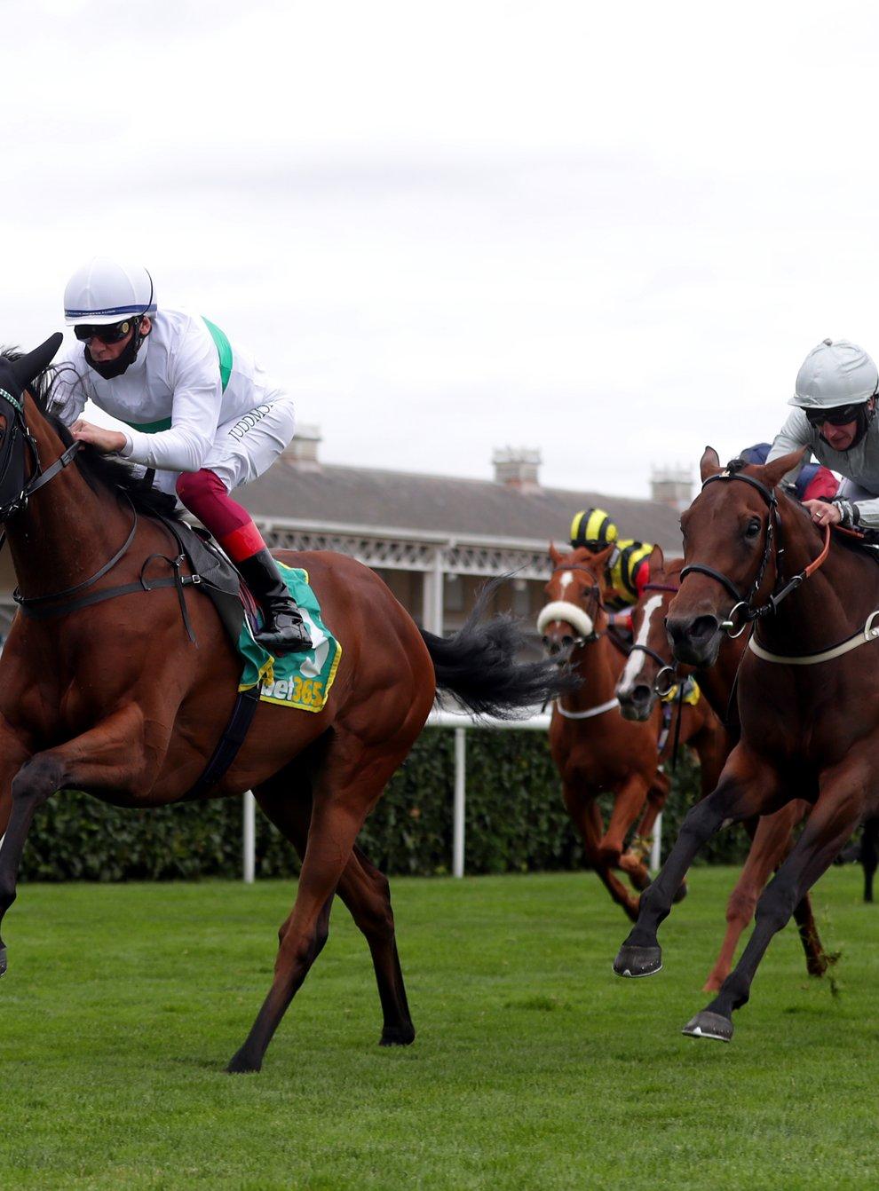 Indigo Girl (left) winning the May Hill Stakes at Doncaster (David Davies/PA)