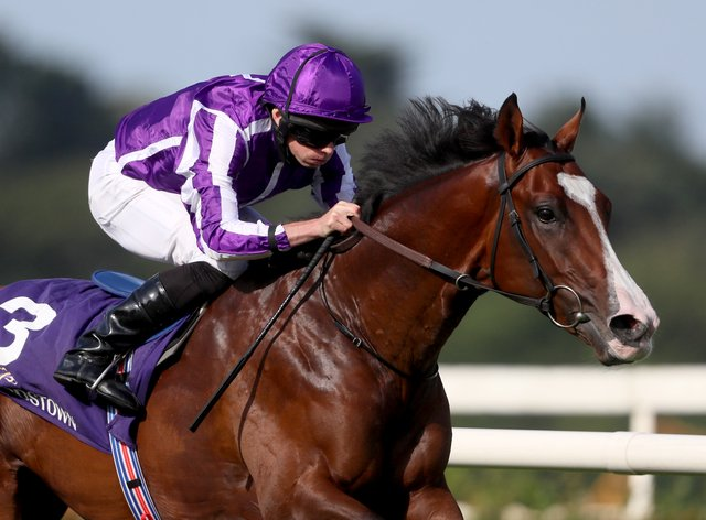 Point Lonsdale and Ryan Moore coast home in the Japan Racing Association Tyros Stakes at Leopardstown (Brian Lawless/PA)