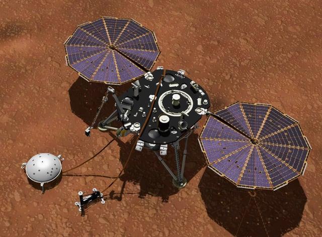 Scientists determine thickness of Mars's crust (Nasa/JPL-Caltech)