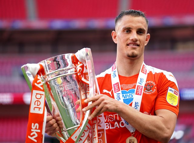 Jerry Yates has committed to Blackpool for another three years (ZacGoodwin/PA)