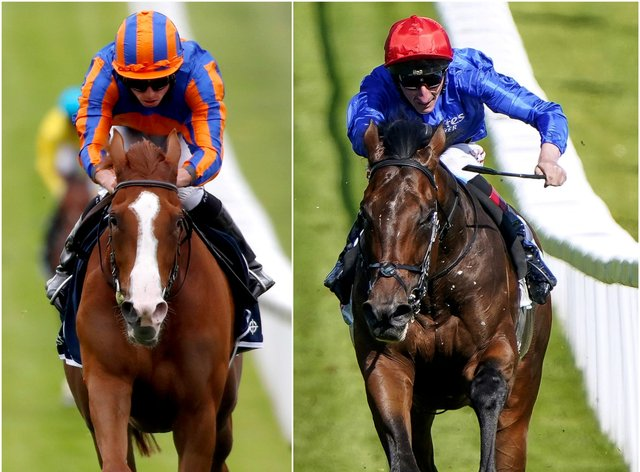 Love (left) and Adayar will do battle in the King George at Ascot (Dan Abraham/Alan Crowhurst/PA)