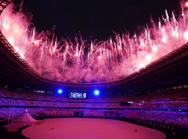 The Olympics were officially opened in Tokyo on Friday (Martin Rickett/PA)