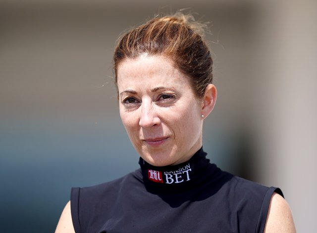 Hayley Turner completed a York treble when Aristia beat Alpine Star in the Listed British Stallion Studs EBF Lyric Fillies' Stakes at York (Mike Egerton/PA)