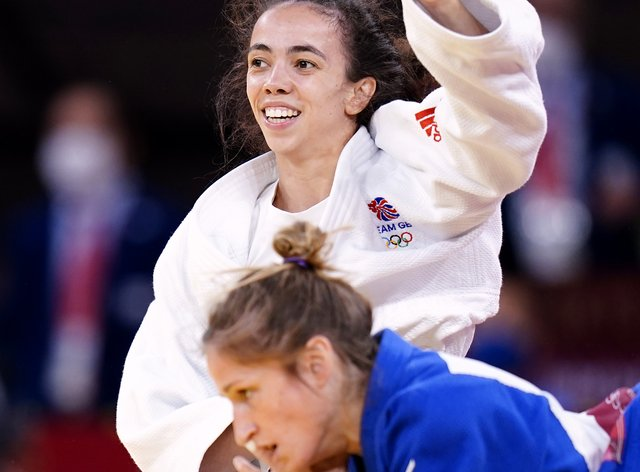Chelsea Giles clinched a bronze medal (Danny Lawson/PA)