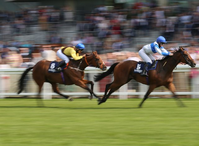 Rosie Margarson forges clear on Spirited Guest to win the Longines Handicap at Ascot (Nigel French/PA)