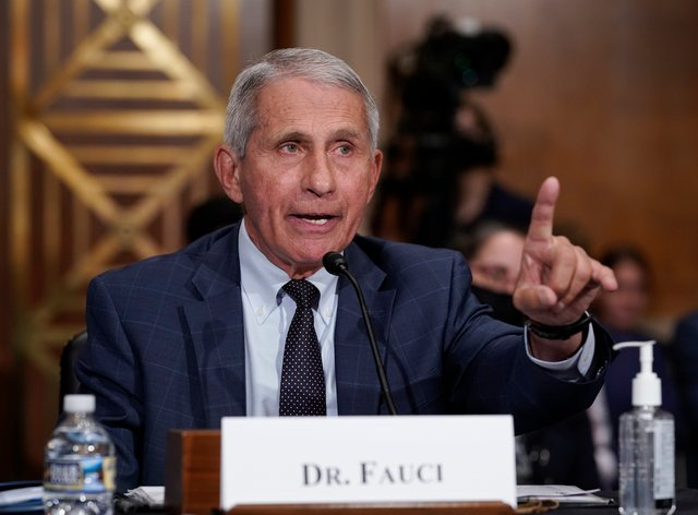 Top infectious disease expert Dr Anthony Fauci has urged people to get vaccinated (J. Scott Applewhite/AP)