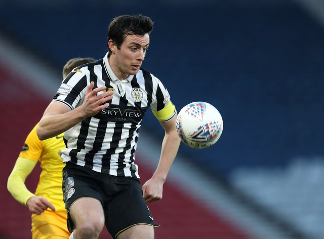 St Mirren's Joe Shaughnessy netted a crucial goal (Jane Barlow/PA)