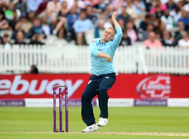 England leg spinner Matt Parkinson starred in Manchester Originals' first Hundred victory (Nigel French/PA)