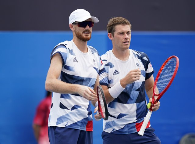 Jamie Murray and Neal Skupski were beaten in the second round in Tokyo (Mike Egerton/PA)
