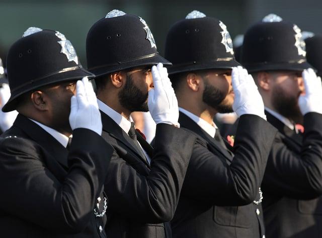 Stock photo of Metropolitan Police recruits (Nick Ansell/PA)