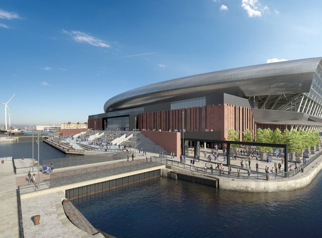 Work has started on Everton's new stadium at Bramley-Moore Dock (Credit: Everton FC)