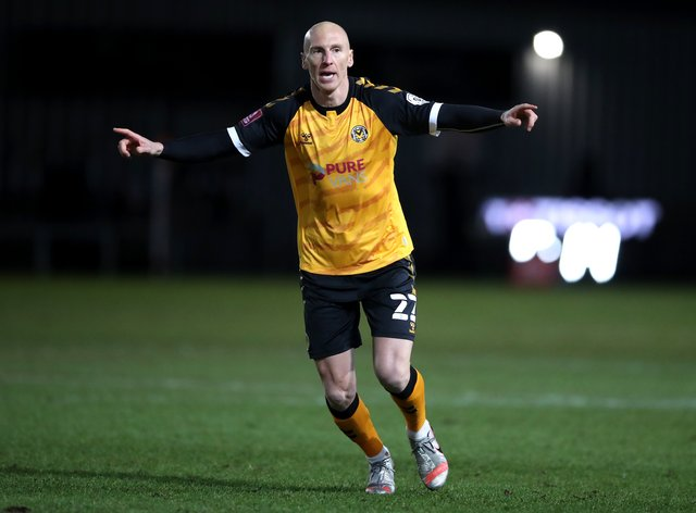 Kevin Ellison is staying at Newport (Nick Potts/PA)