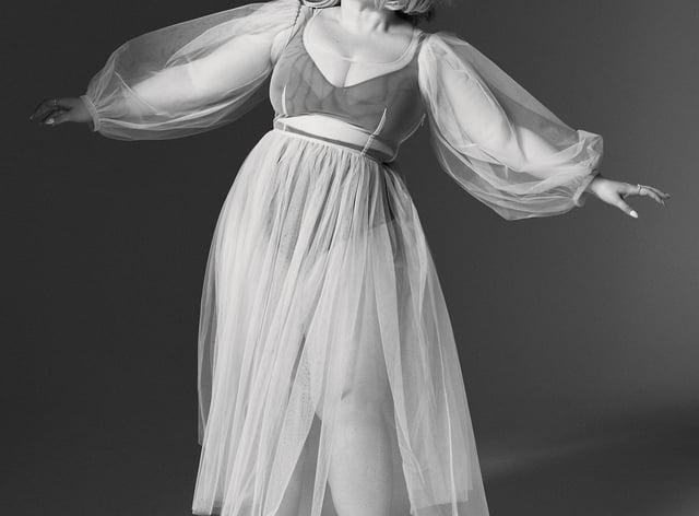 Lara Johnson-Wheeler model shapewear in Tatler's September issue (Mark Cant/PA)