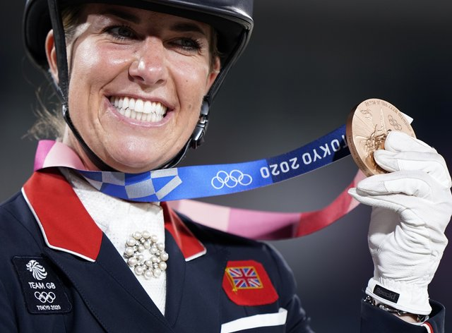 Charlotte Dujardin won bronze in the individual dressage (Danny Lawson/PA)
