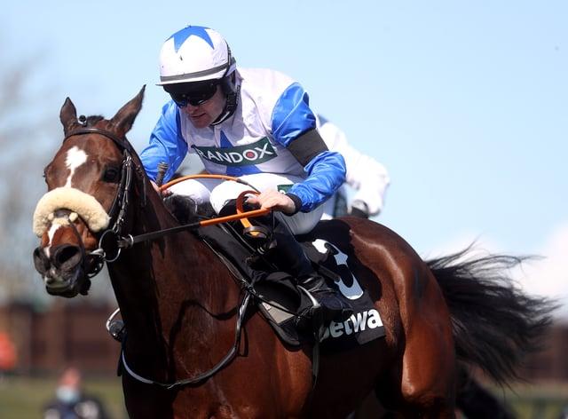 Belfast Banter on his way to winning at Aintree (David Davies/Jockey Club)