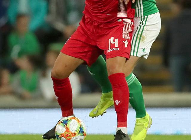 Danel Sinani, left, has joined Huddersfield (Liam McBurney/PA)
