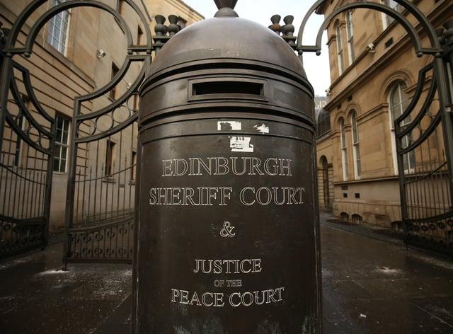 He appeared at Edinburgh Sheriff Court on Thursday (Jane Barlow/PA)