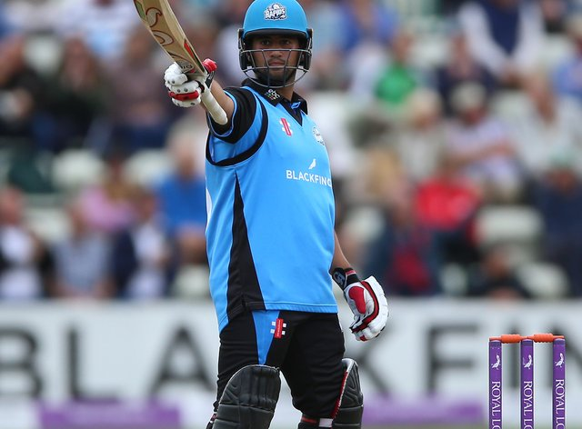 Worcestershire's Brett D'Oliveira shared in a record-breaking partnership against Essex (Nigel French/PA)