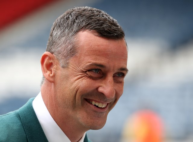 Jack Ross saw his side ease through (Andrew Milligan/PA)