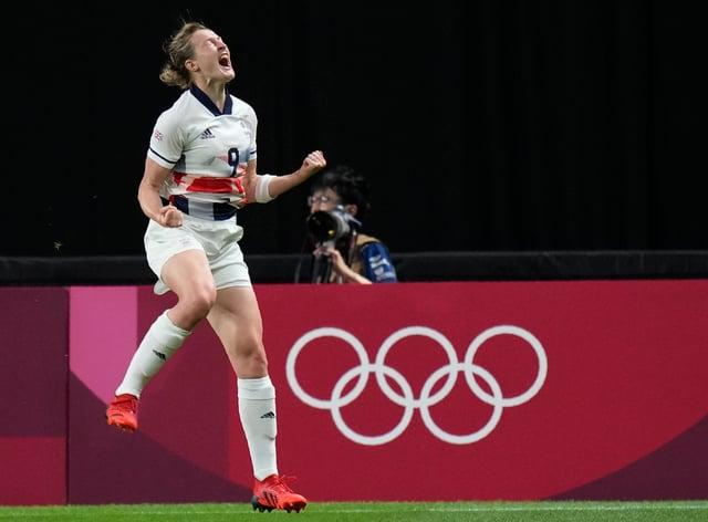 Ellen White scored three goals for Great Britain (Silvia Izquierdo/AP)