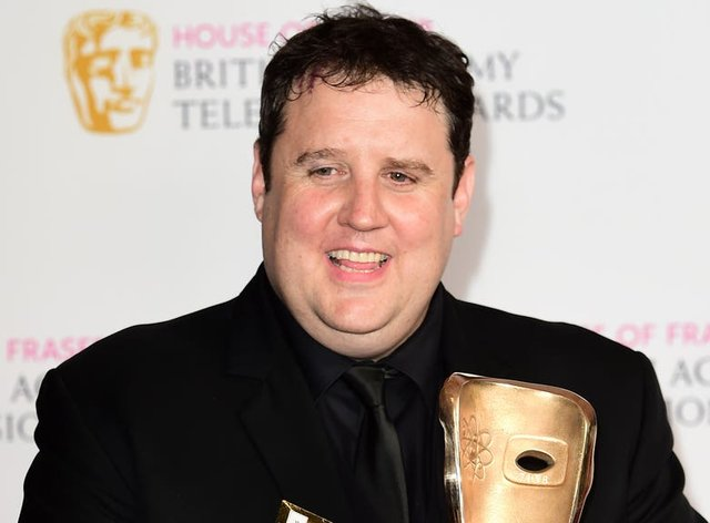 <p>Peter Kay on his way back to the stage</p>