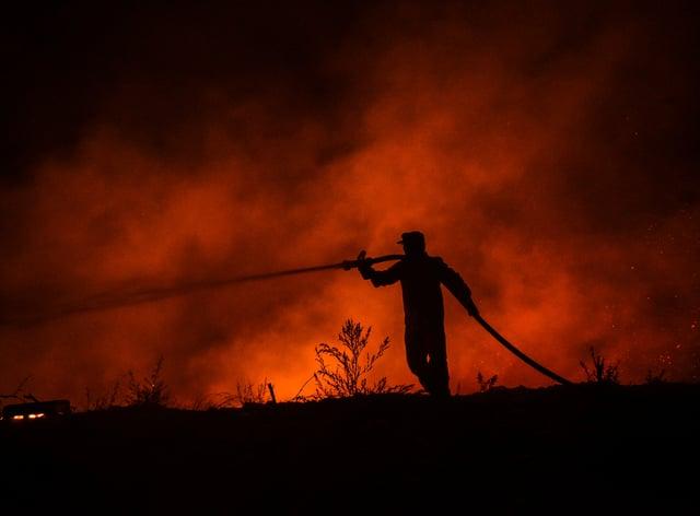 Azerbaijan said it would send 500 emergency response personnel to help Turkey battle the fires (AP)