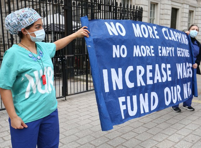 The GMB is campaigning for a 15% increase (Jonathan Brady/PA)