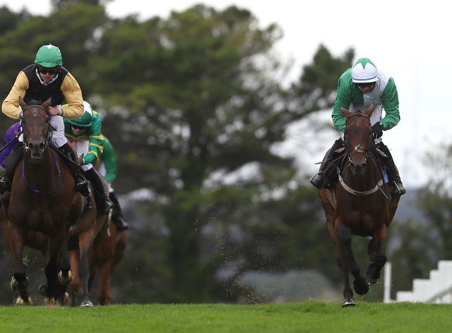 Jazzaway (right) comes late to win (PA Wire)