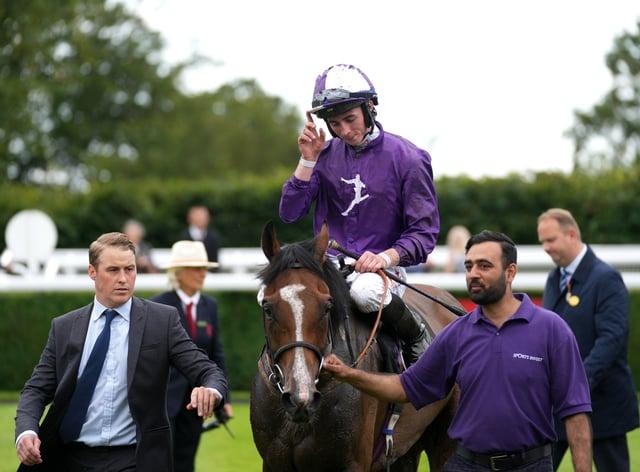 Prince Alex returns after his Goodwood win (John Walton/PA)