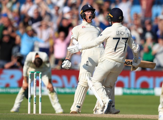 Jack Leach helped Ben Stokes pull off a miraculous Ashes victory at Headingley during the 2019 series (Mike Egerton/PA)