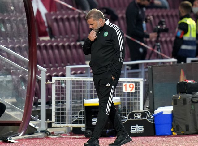 Celtic manager Ange Postecoglou was left with more to ponder (Jane Barlow/PA)