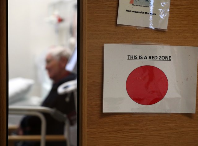 A report has shown that standards of care for hospital patients admitted with Covid-19 did not slip during the pandemic (Andrew Milligan/PA)