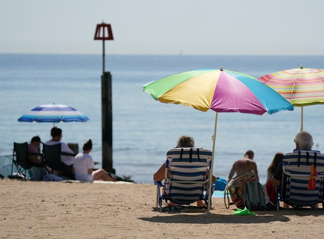 Beaches were popular as the UK basked in the sunshine (Andrew Matthews/PA)