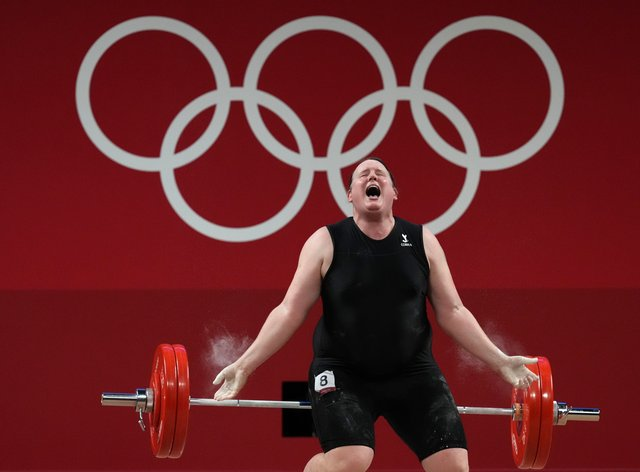 Laurel Hubbard bowed out of the Olympics without a lift (Martin Rickett/PA)
