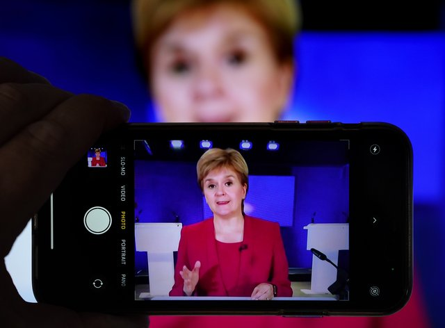 Most of Scotland's remaining coronavirus restrictions will be removed from Monday, Nicola Sturgeon confirmed (Andrew Milligan/PA)