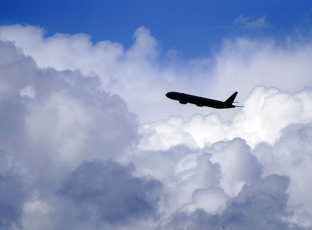 A plane takes off at Heathrow Airport (Steve Parsons/PA)