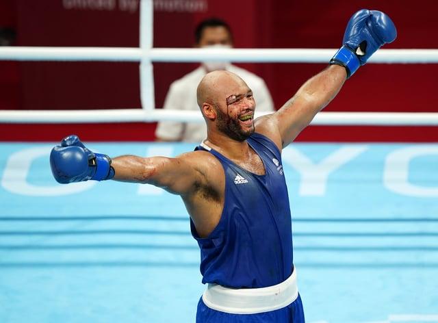 Frazer Clarke celebrates bronze (Mike Egerton/PA)